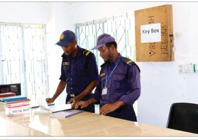 Security officers at Entry Check Point